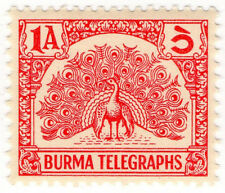 (I.B) Burma Telegraphs : Old Currency 1a