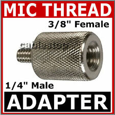 """Mic Stand 3/8"""" FEMALE to 1/4"""" MALE Thread Adapter Microphone Camera Adaptor"""
