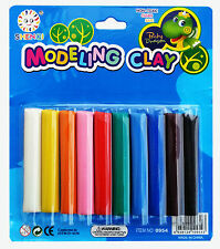 Kids Modelling Clay - 10 Sticks, 10 Colours, Non-Toxic