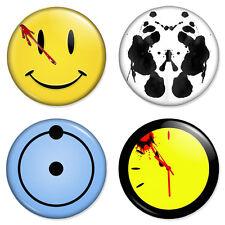 """4 x Watchmen Combo Set 25mm 1"""" Pin Badges Dr Manhattan Rorschach Comedian"""