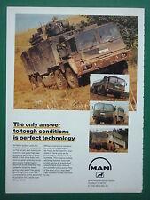3/1988 PUB MAN MUNCHEN MILITARY VEHICLES TRUCK CAMIONS MILITAIRES ORIGINAL AD
