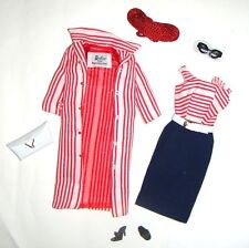 Barbie Ensemble/Fashion Red/White Ribbed Coat Repro vf05