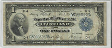 1914~~LARGE SIZE $1 NATIONAL CURRENCY~~VG-F~~FRB CLEVELAND~~SERIES OF 1918