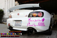 Passed by a girl girls vinyl car sticker decal graphics pink,novelty,funny, fun