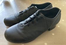 Black Leather BLOCH Split Sole Tap Shoes Size 5M (UK 2) Excellent Condition