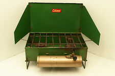 Vintage Coleman Stove 425 bronze color tank 2 burner stove