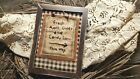 """Primitive Country Stitchery Home Decor 5x7 FRAMED """"Candy Corn"""" Embroidery"""