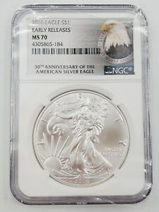 2016 Early Release Silver US American Eagle $1 One Dollar Coin NGC MS-70