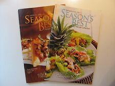 SET OF 2 - THE PAMPERED CHEF SEASONS BEST RECIPE COLLECTION BOOKS