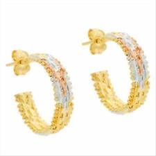 Butterfly Gold Hoop Fine Earrings