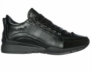 Dsquared2 551 Sneakers Snm0404 M084 Leather Men's Dsquared Trainers Black Shoes