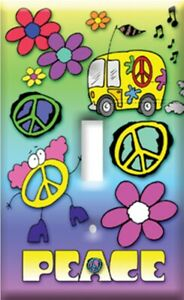 Peace Sign Love Van Single Switch Plate Cover