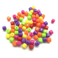 Mixed 60pcs Acrylic Charms Loose Beads Kid Jewelry DIY Accessories 6*6mm