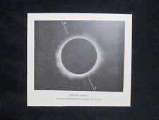 Eclisse solare, riproduzione fotografica del Secchi