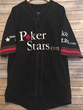 MENS POKER STARS WSOP TEAM 2006 PRO BASEBALL JERSEY WORLD SERIES OF POKER 06 XL