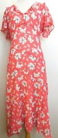 NWOT Rose & Ali Women's  Coral White Floral Dress Sleeveless Size 8