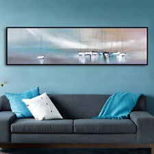 VV324 Modern Hand painted Abstract oil painting of ocean scenery on canvas 59''