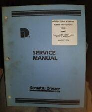 Komatsu Dresser Series 65C Internatonal Rubber tired loader Service Manual