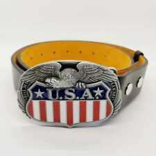 USA Eagle Flag Belt Buckle Western American Cowboy Jeans Indian Navajo
