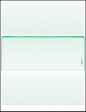 Blank Check Paper Stock-Check in Middle Green Count/100