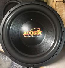 "Rebuilt Old School Atomic Dual 2 Ohm Competition 15"" Subwoofer,Rare,NOS,USA Made"