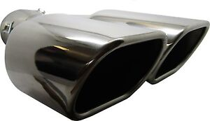 Twin Square Stainless Steel Exhaust Trim Tip Seat Arosa 1997-2004