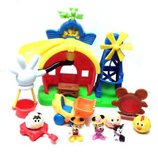 Walt Disney MICKEY MOUSE Farm house Playset figure & accessories toy lot minnie
