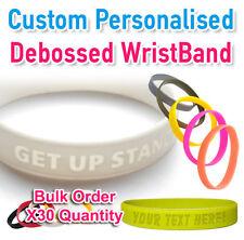 School Leavers - Custom Personalized Silicone Wristband Single Color x30