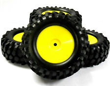 A960003 1/10 Scale OFF ROAD ROCK CRAWLER Ruote e Pneumatici X 4 GIALLO PLASTICA DISC