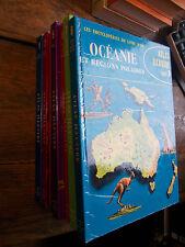 atlas illustré - les encyclopédies du livre d'or- deux coqs d'or - 8 volumes