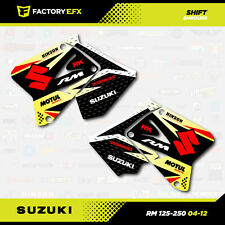 04-12 RM Shrouds Only Suzuki Graphic Kit RM125 RM250 125 250 Decal Sticker Shift