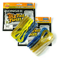 Fishing Soft Lure Curly Long Tail Grub 14cm Pike Offset Hook Jig Head Bait Set