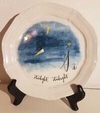 Anthropologie LINEA CARTA, S Calligrapher Plate Starlight Starbright New