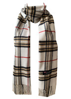 New Winter Womens Mens 100% Cashmere Wool Wrap Scarf Plaid Scarves (#08)