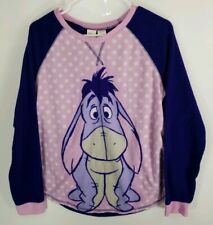 Disney Eeyore Fuzzy Pajama 2 Piece Set Size Large 12 - 14