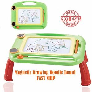 Doodle Kids Magnetic Drawing Board 2 Stamps Erasable Pad Kids Toys Gift