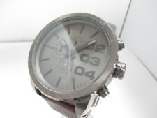 Auth DIESEL DZ-4210 DarkGray DarkBrown Silver 11209 Men's Wrist Watch