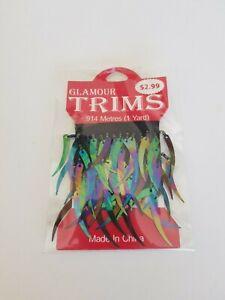 Glamour Trims sequin spear beaded .914m 1yard BN Rainbow Dolls craft dance (63)