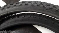 "2 BLACK 20 x 2.125"" CHENG SHIN Tires for Old School BMX Bike GT MX Bicycle"