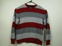 Mens Tommy Hilfiger XL Striped Pullover 100% Cotton Crew Neck Sweater