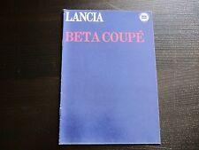 Prospekt Lancia Beta Coupé  1978