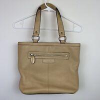 """COACH """"PENELOPE"""" Tote/Shoulder Bag Pebbled Leather Beige  F14683"""