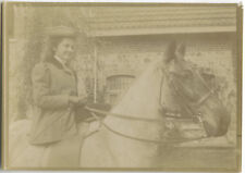 PHOTO ANCIENNE - VINTAGE SNAPSHOT - ANIMAL CHEVAL CAVALIER AMAZONE - HORSE 4