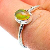 Ethiopian Opal 925 Sterling Silver Ring Size 7.5 Ana Co Jewelry R48321F
