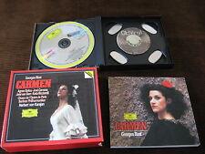 3 CD Georges Bizet Carmen Herbert von Karajan Agnes Baltsa Germany +Booklet