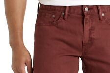 Men's Levi's Color Jeans Slim Straight Fit, Dark Red/Maroon Size 34x34 NWT
