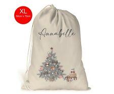 Personalised XL Christmas Sack Stocking Xmas Gift Bag Presents Rose Gold Tree