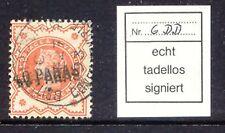 2135 BRITISH LEVANT 1893 QV 40 Paras on 1/2 D orange DOUBLE OVERPRINT VFU EXPERT