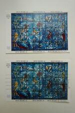 ONU 1967 2 BLOC CHAGALL VITRAIL NEUF OBLITERE 2 SHEET MNH USED UNITED NATIONS