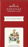 Hallmark Keepsake 2021 Ornament Club That's Snow Sweet Christmas Decoration NIB